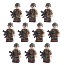 Weltkrieg 2 US Army Soldiers Figures building blocks Guns Helmet military weapons Accessories toys for Children