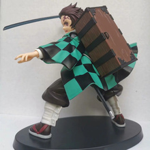 цена на Anime Demon Slayer Kimetsu no Yaiba Kamado Tanjirou PVC Action Figure Collectible Model doll toy 20cm