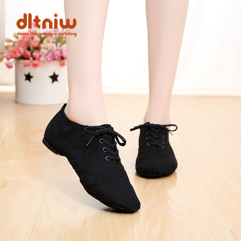 Coupons Woman Woman's Lace Up Canvas Dancing Shoe Ballet Pointe Sneakers for Women Men Women' Canvas Dance Jazz Shoes