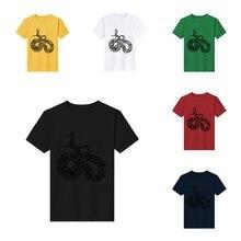 Mısır yılanı çiçek desenli gömlek gömlek erkek kız erkek o-boyun mizah Tee gömlek adam büyük boy 3xl 4xl 5xl dişi t parça en Yeni Kawaii