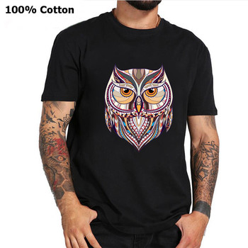 Ancient Harry Ethnic Owl T-Shirt Men Women Geek Style Hogwarts T Shirt Hipster Magic Wizard Tees Owly Potter-lover Animal Tshirt