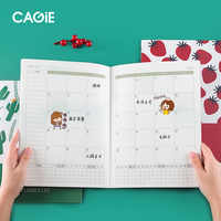 Kawaii A4 2020 Planner Annual Monthly Daily Notebook Organizer Agenda Daily Time Plan Notebook School Office Schedule Stationary