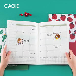 Kawaii A4 Agenda 2020 2021 Annual Monthly Daily Planner Notebook Organizer 365 Day Time Plan School Office Schedule Stationary