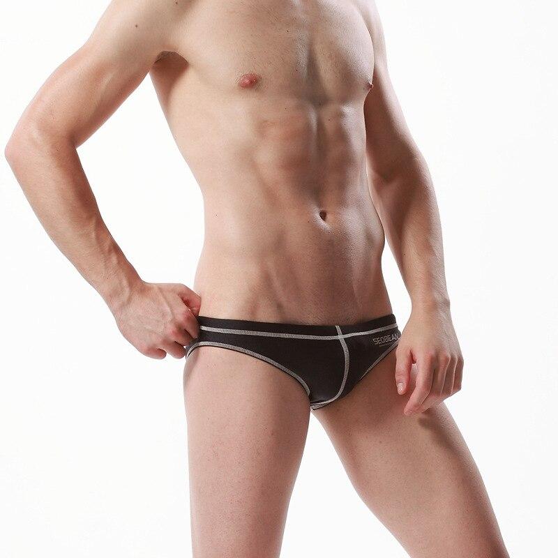 Seobean SEOBEAN New Style Men Swim Briefs Low Waist Sexy MEN'S Swimsuit Japanese Korean Fashion Swimming Trunks