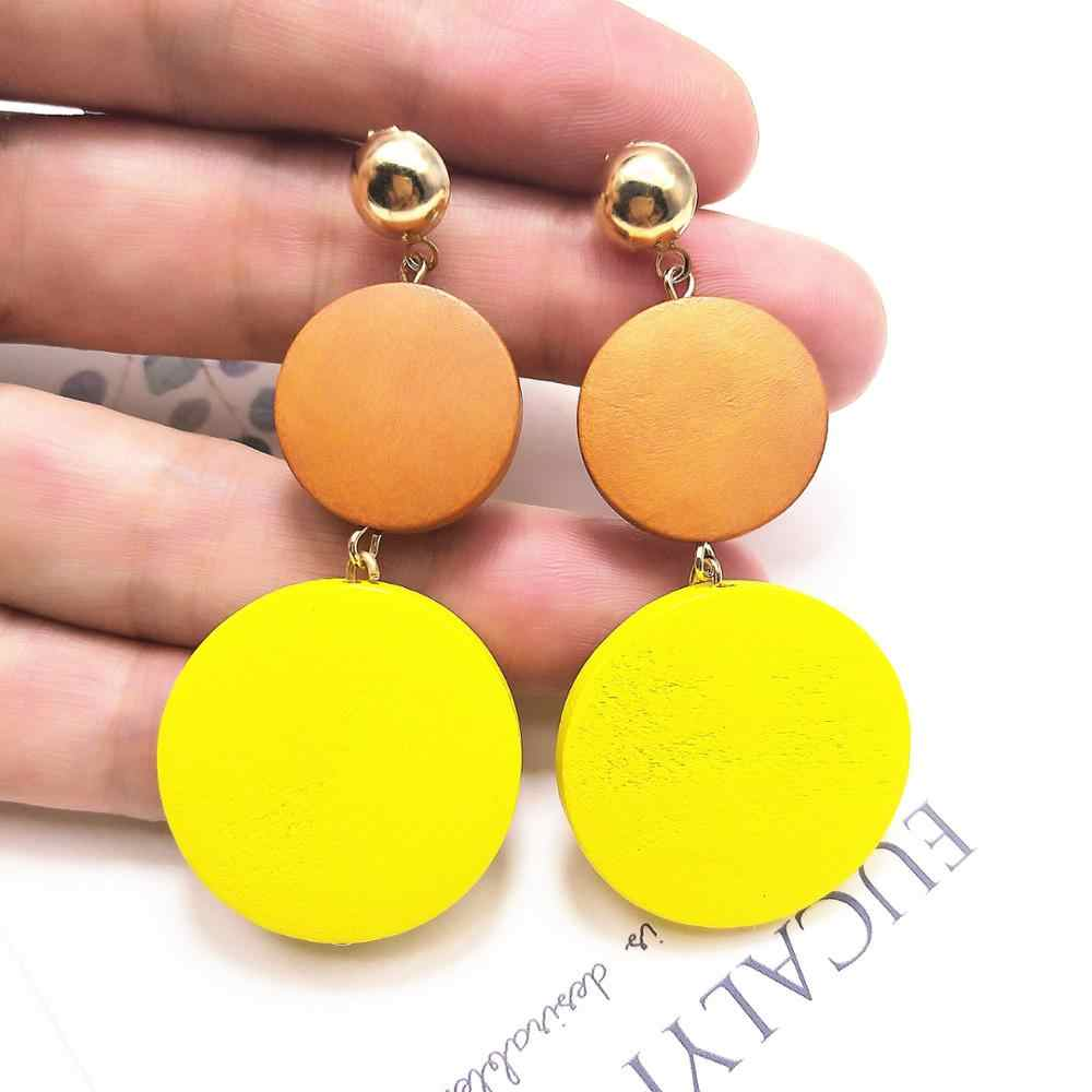 High quality Luxury Big Round Earrings Fashion Korean Dangle/Earrings For Women Long Gold Statement Earrings