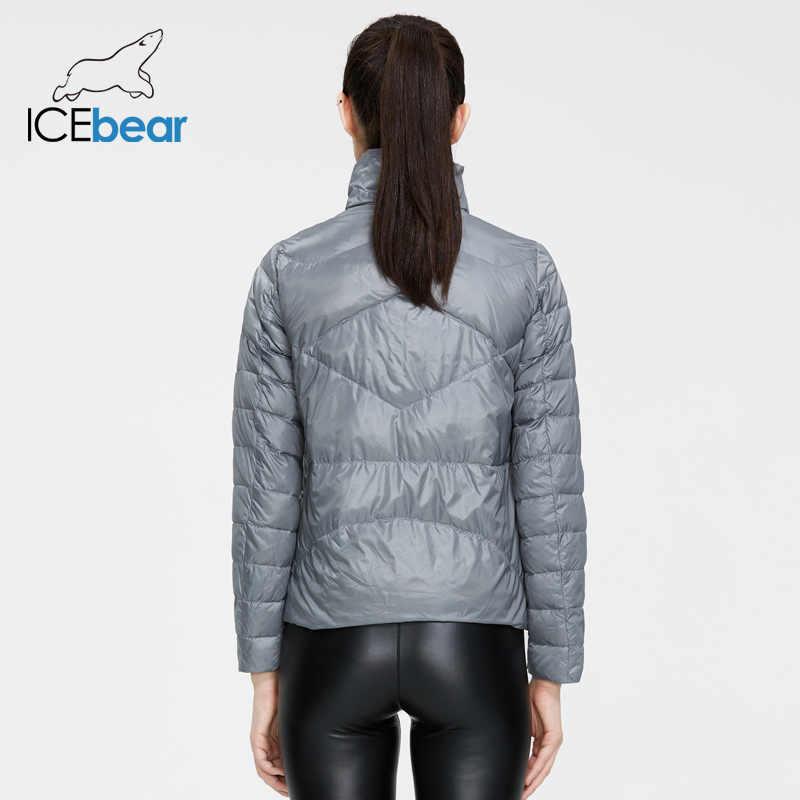 ICEbear 2020 damska wiosna lekka kurtka puchowa stylowa damska kurtka damska, z kołnierzykiem damska odzież GWY19556D