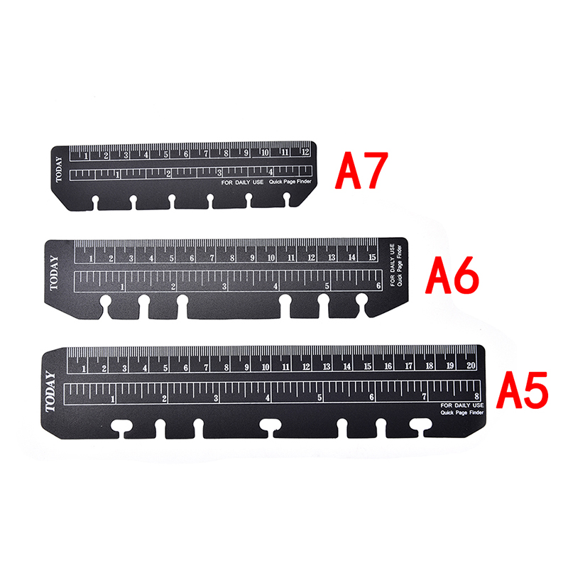 A5 A6 A7 6 Holes Spiral Planner Accessories Ruler Binder Inner Rulers School