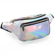 waist bag women Fashion Holographic PU Waist Bag Iridescent Fanny Pack Belt bolsos de cintura cuero hombre