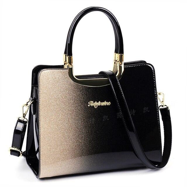 Moda feminina bolsa de couro de patente bolsas e bolsas de luxo bolsas de ombro sacos crossbody bolsa feminina para mulher 2021 6