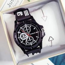 Leisure Sports Watch Mens Leather Waterproof Clock Outdoor Quartz Zegarki Meskie Reloj Hombre