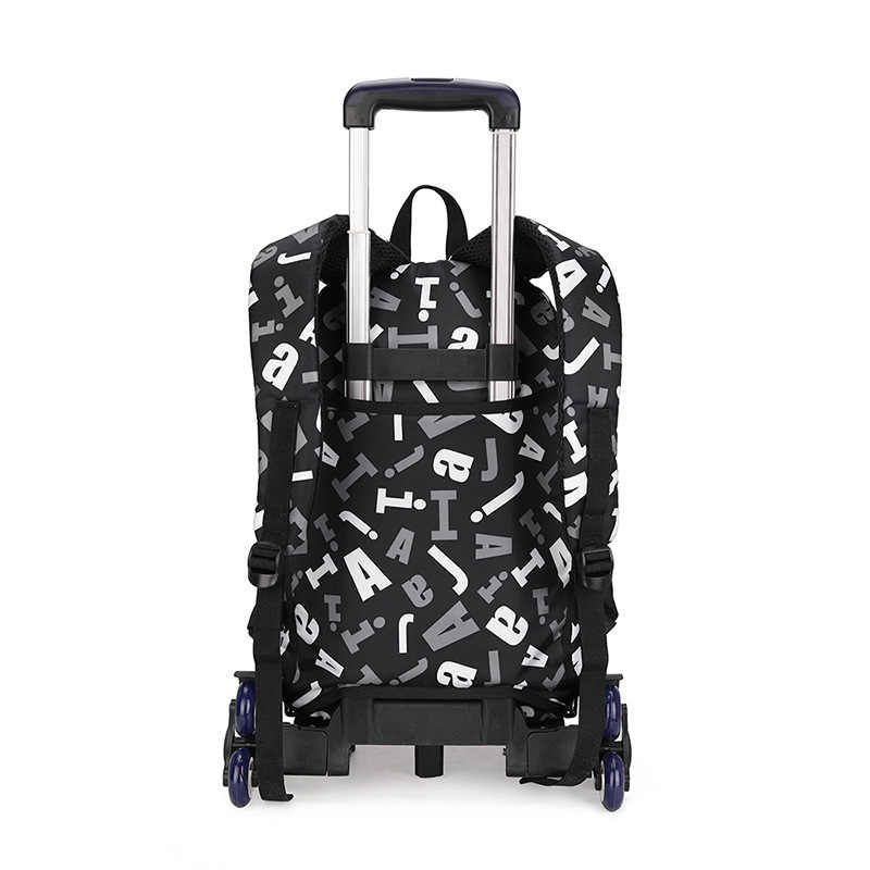 ZIRANYU/Детская сумка на колесиках, сумка для багажа, сумка для книг, рюкзак для мальчиков и девочек, последние съемные детские школьные сумки, 2/6 колеса, комплект из 3 предметов