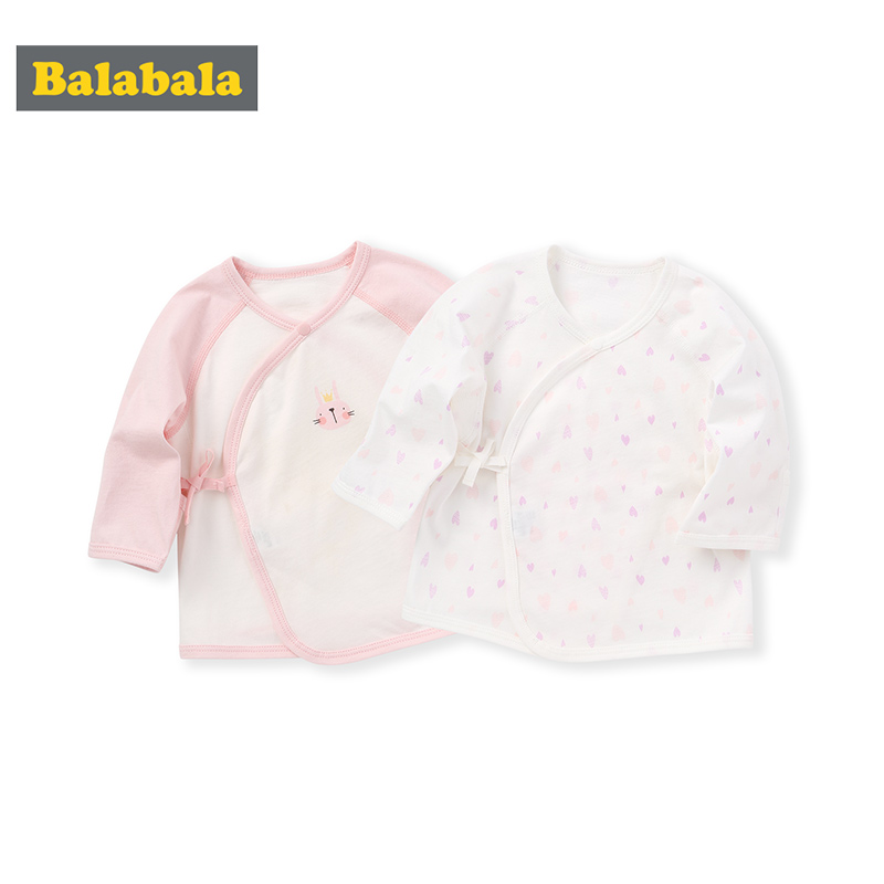 Balabala Baby Undershirt Baby T-shirt 2020 New Girl Long Sleeve Boy Top Pajamas Cotton Bottoming Two-piece Set