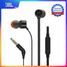 Auriculares JBL T110 in ear música deportiva dinámica Pure HIFI Deep Bass Stero sonido auriculares 1 botón remoto con micrófono auricular