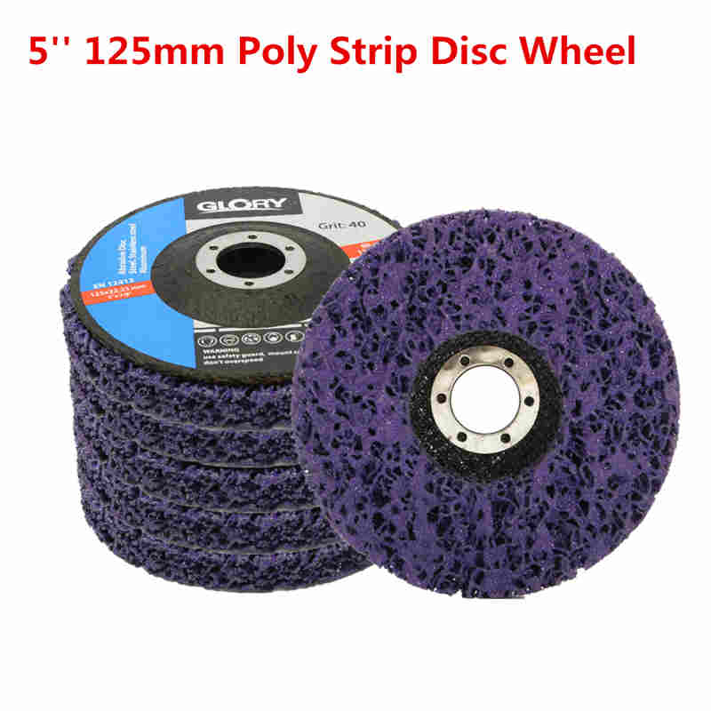 "2 x 4.5"" Poly Strip Disc Wheel Car Paint Rust Removal Clean Angle Grinder Abrasive Disc  115mm For Angle Grinders"