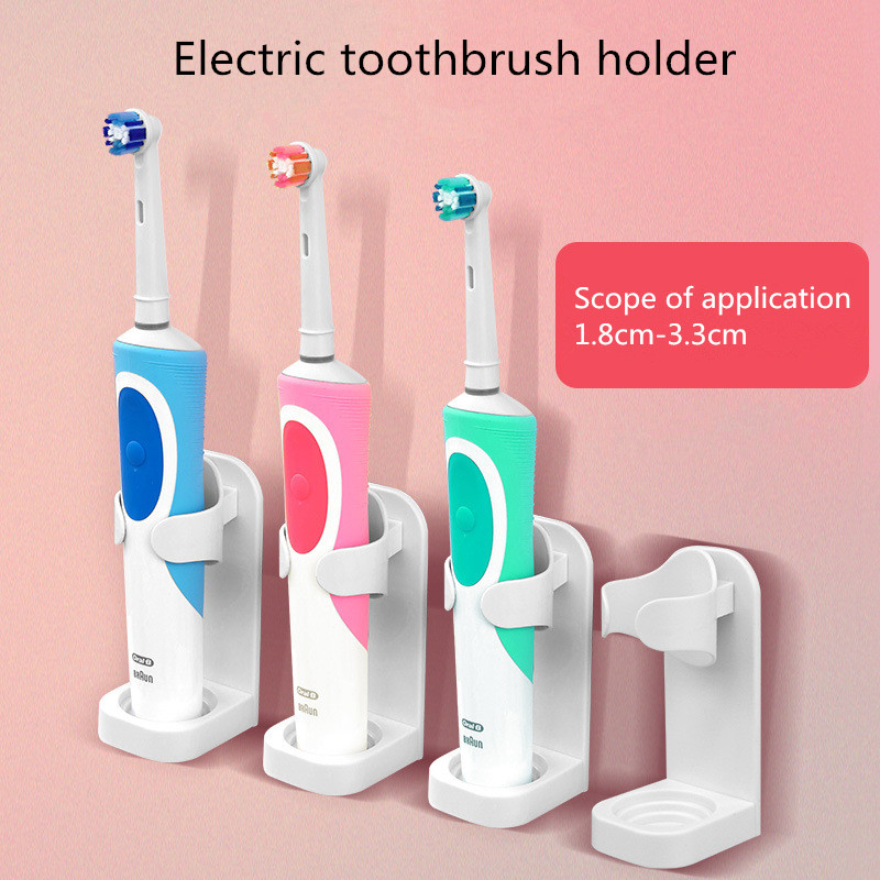 Electric Toothbrush Holder Traceless Toothbrush Stand Rack Wall-Mounted Bathroom Adapt 99% Electric toothbrush storage rack image