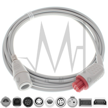 Compatible with 10pin Datex Monitor IBP Cable and Argon Philips BD Edward Medex Abbott Smith PVB Utah Pressure Transducers image