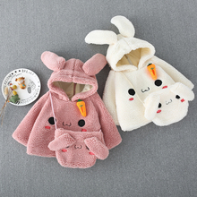 Girls casual thick woolen coats Children's hooded shirt bow pocket double-breasted outerwear Baby kids wam jackets clothes hooded panel pocket tartan shirt