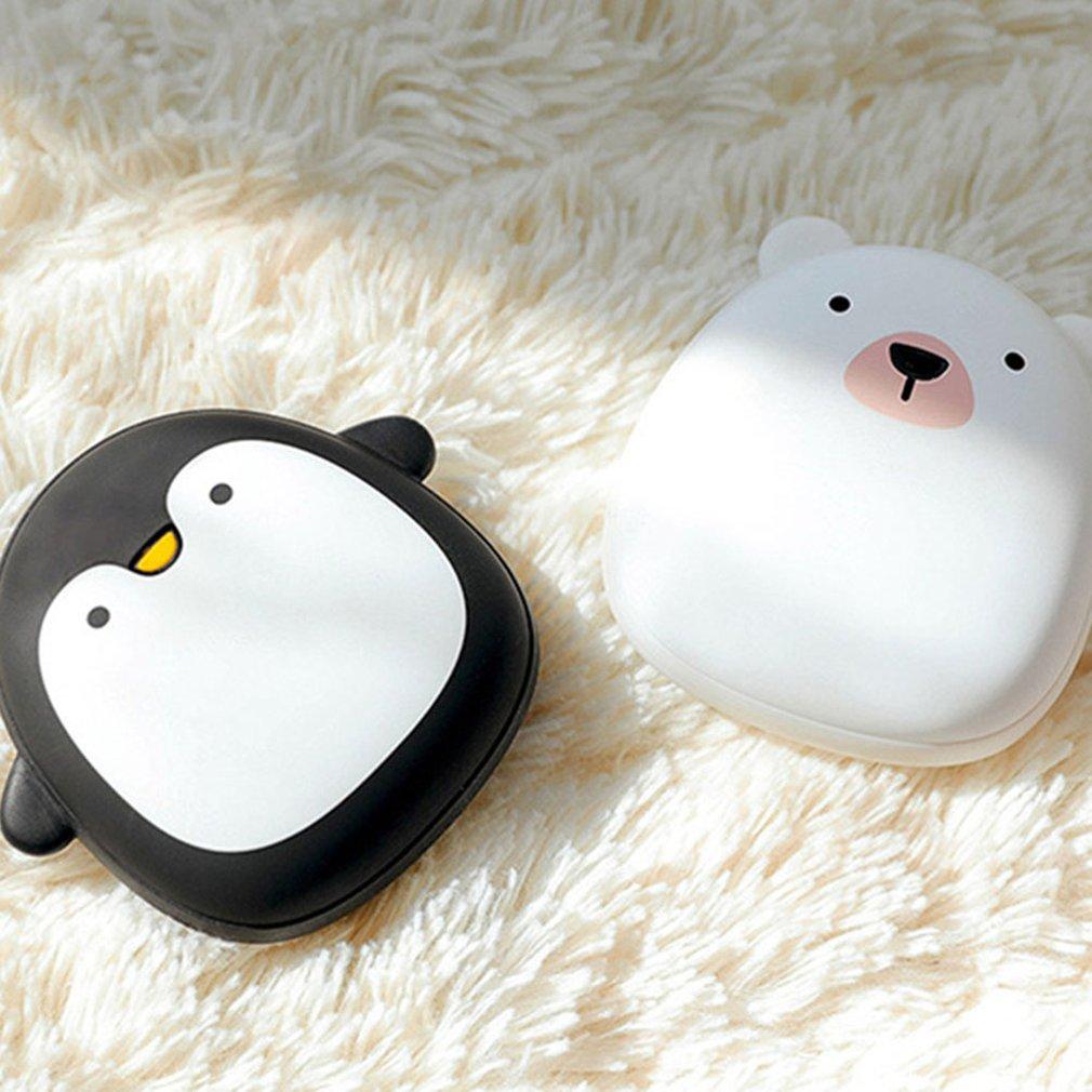 Creative Cute Cartoon Hand Warmer USB Charging Mini Portable 3600mAh Mobile Power Fast Charging Winter Warmer