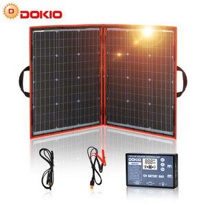 Image 1 - Dokio 100w(50Wx2pcs) Flexible Foldble Mono Solar Panel For Travel & Boat & RV High Quality Portable Solar Panel China