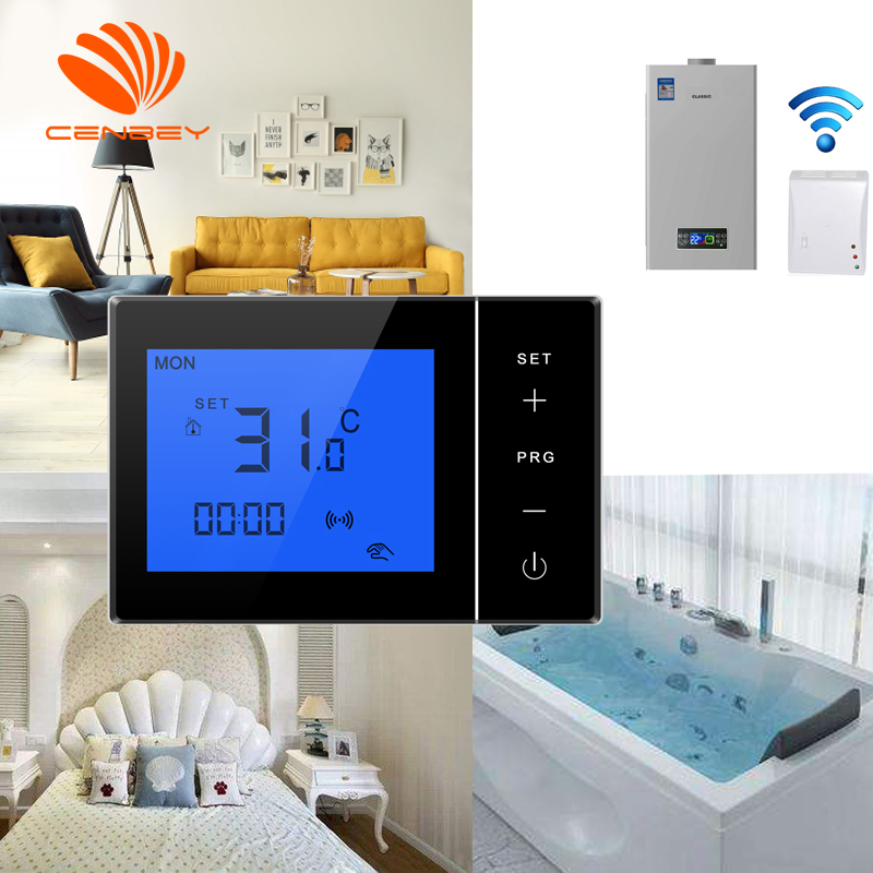 Wireless Room Thermostat Battery Powered Underfloor Heating Thermostats Smart Heating Controller Programmable 16A 220V