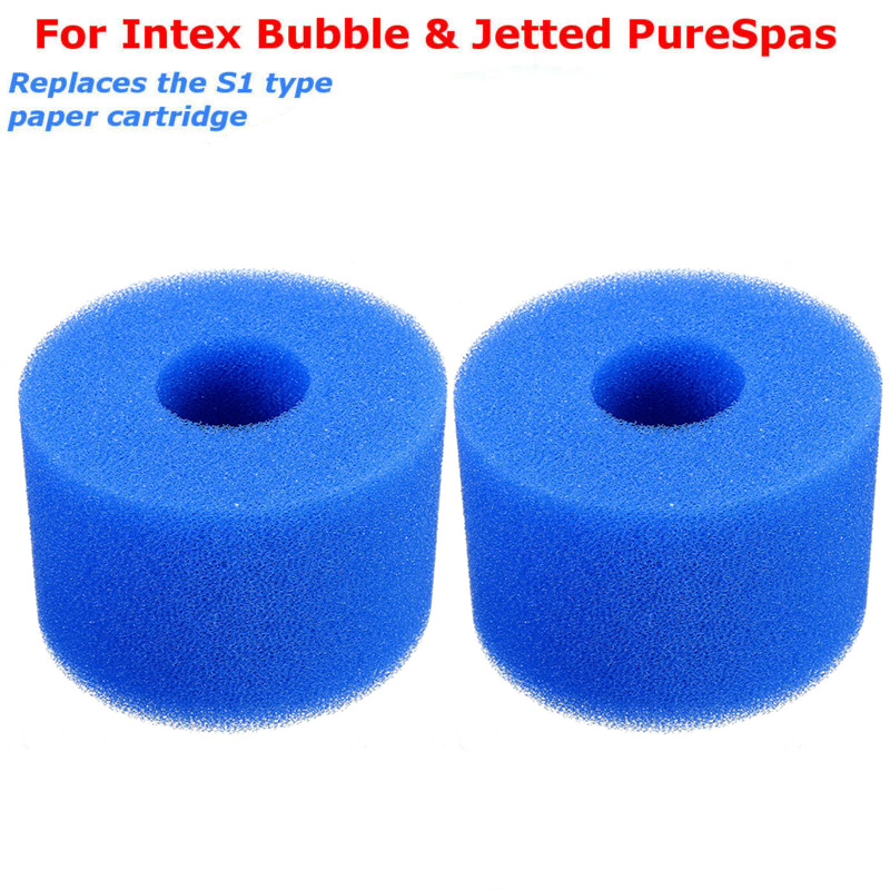 For Intex Pure Spa Sponge Set Of 2pcs Foam Hot Tub Filters Cartridge (S1) Type