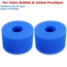 For Intex Pure Spa Sponge Set Of 2pcs Foam Hot Tub Filters Cartridge (S1) Type(China)