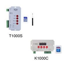 K 1000C T1000S píxeles controlador direccionable, programable controlador 256 SD TARJETA DE WS2812B APA102C SK6812 WS2811 WS2801 tira de LED