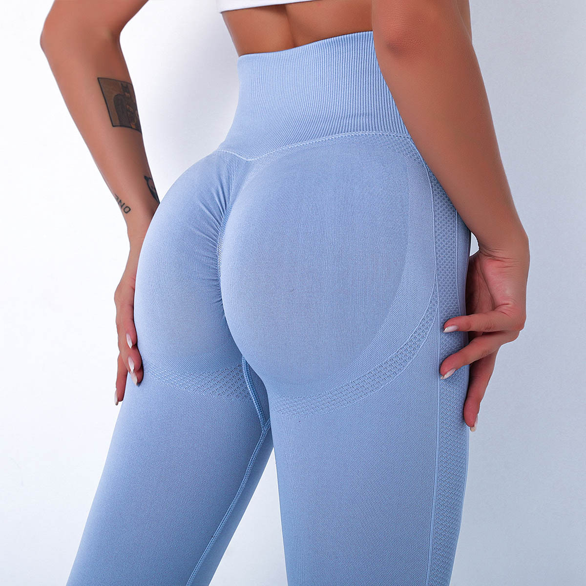 High Waist Seamless Yoga Pants Bubble Butt Push Up Sport Leggings Gym Fitness Compression Tights Workout Running Trousers