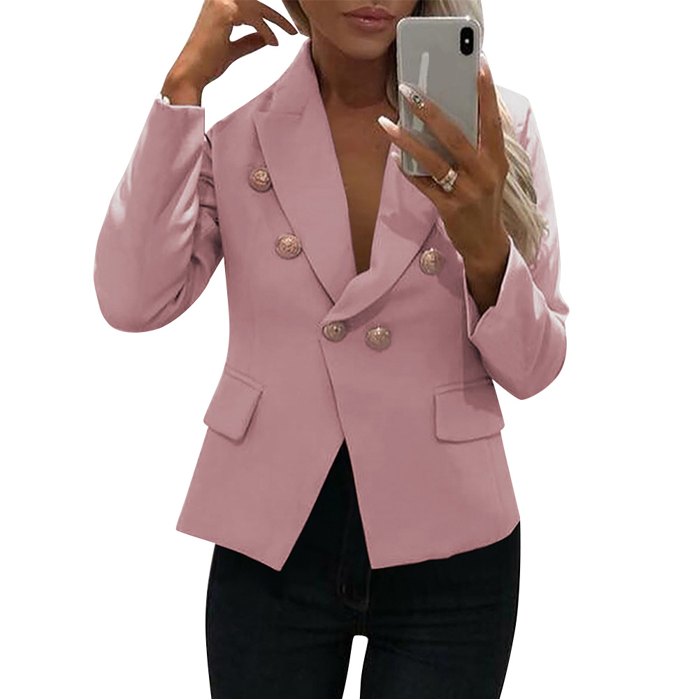 Blazer Women Fashion Single Button Short Jacket Vintage Slim Fit Blazer mujer Ladies Offices Business Blazer bleiser feminino 25