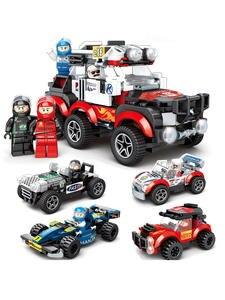 365PCS 4 IN 1 car building blocks toy Super Race Car Children Vehicle Compatible With Legoed Bricks Models Figures Gift For Kids