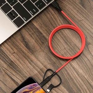 Image 5 - BlitzWolf MT4 3 en 1 Type C + foudre + Micro câble de données USB avec MFI certifié pour Samsung Xiaomi pour iPhone 11 X Max