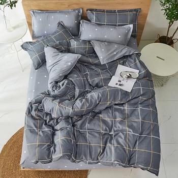 Winter Modern style Bedding Set Polyester Duvet Cover set flat Sheet Pillowcase Twin Full Queen King