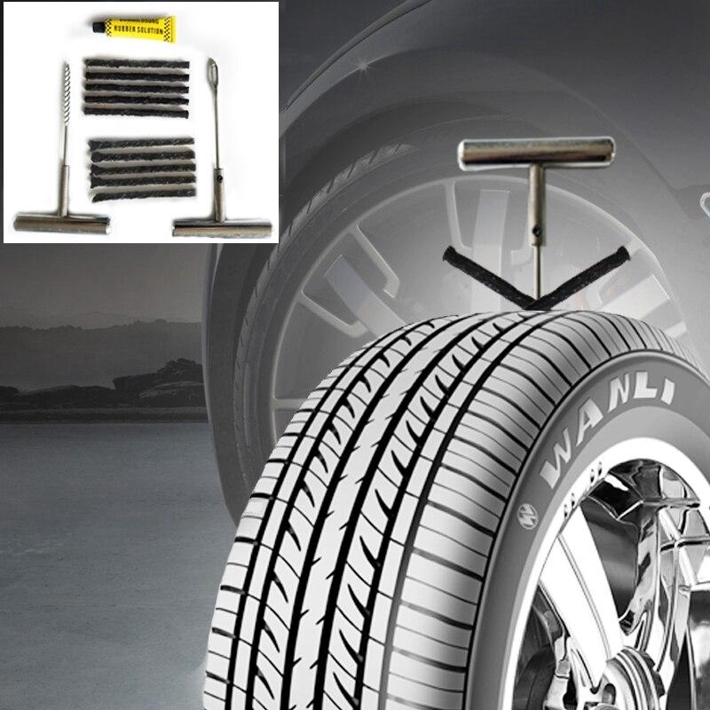 Vacuum Tire Plugger Tubeless Tire Wheel Repair Gun Inflator Kit for Auto Car