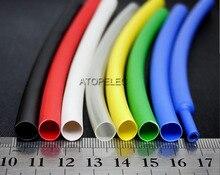 Термоусадочная трубка 1,6 мм/2,4 мм/3,2 мм/4,8 мм/6,4 мм/7,9 мм/9,5 мм с клеевым покрытием диаметром 3:1, двойная стенка, водонепроницаемая, черная/красна...