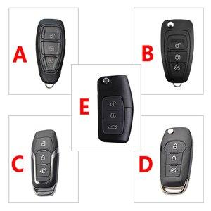 Image 3 - Coque de clé télécommande en alliage de Zinc, housse lumineuse pour Ford Fiesta Focus 2 3 MK2 MK3 Mondeo MK4 Ecosport Kuga Escape Ranger