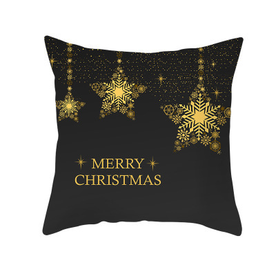 Zengia Black Gold Christmas Cushion Covers New Year S Pillow Cover Decorative Cushions For Sofa Christmas Decorations For Home Cushion Cover Aliexpress