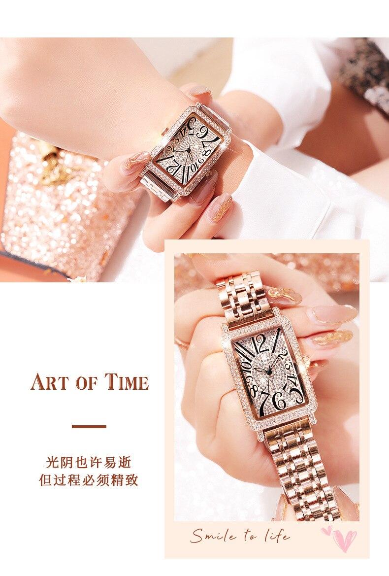 senhoras criativo aço feminino pulseira relógios relógio