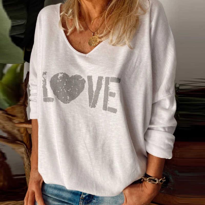エレガントな文字の星プリントブラウスシャツ女性oネック長袖秋のトップス原宿ファッションストリートブラウスプルオーバー