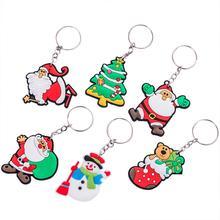 1Pc Silicone Keyring Hanging Pendant Key Chain for Christmas Kid Birthday Party Decor keyring buck model pendant decor