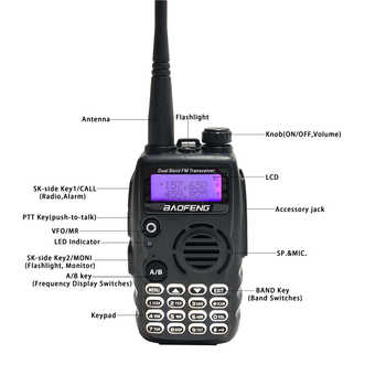 2020 Baofeng A-52 Walkie Talkie Dual Band VHF/UHF 5W Handheld FM HF Transceiver 128 Channel 2Way Radio BF-A52 BF UV5R Update New