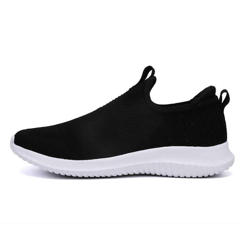 2019 Bahar erkek ayakkabısı Erkekler Üzerinde Kayma rahat ayakkabılar Hafif Rahat Nefes Çift Yürüyüş Sneakers Feminino Zapatos