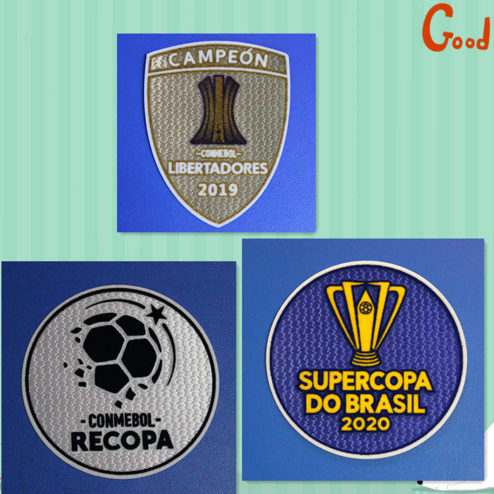 Nieuwe 2020 Flamengo Supercopa Do Brasil Conmebol Recopa Patches Warmteoverdracht Badge Voetbal Patch