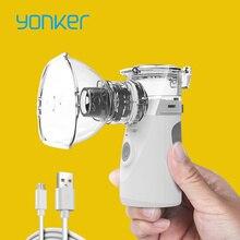 Yonker médica mais novo nebulizador handheld asma inalador atomizador para crianças cuidados de saúde usb mini portátil nebulizador