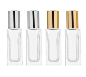 6ml 9ml Clear Glass Bottle Roll On Empty Fragrance Perfume Essential Oil Bottles With Metal Glass Ball Roller SN650