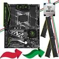 New arrival HUANANZHI X99-F8 motherboard bundle dual M.2 NVMe SSD slot M.2 WIFI CPU Intel Xeon 2680 V3 RAM 64G(4*16G) DDR4 2400