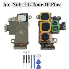 กลับขนาดใหญ่ด้านหลังกล้องFlex CableสำหรับSamsung Galaxyหมายเหตุ 10 N970 หมายเหตุ 10 + Plus N975 N9760 n976F Bอะไหล่