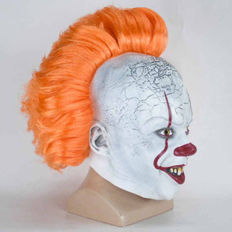 Pennywise Joker Maschera Stephen King Si Capitolo Due 2 Horror Clown Cosplay Lattice Casco Spaventoso Halloween Costume Party Prop 2019