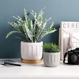 Image 4 - Moule rond en silicone pour pot de fleurs en ciment, moule créatif pour pot de fleurs, plantes en pot