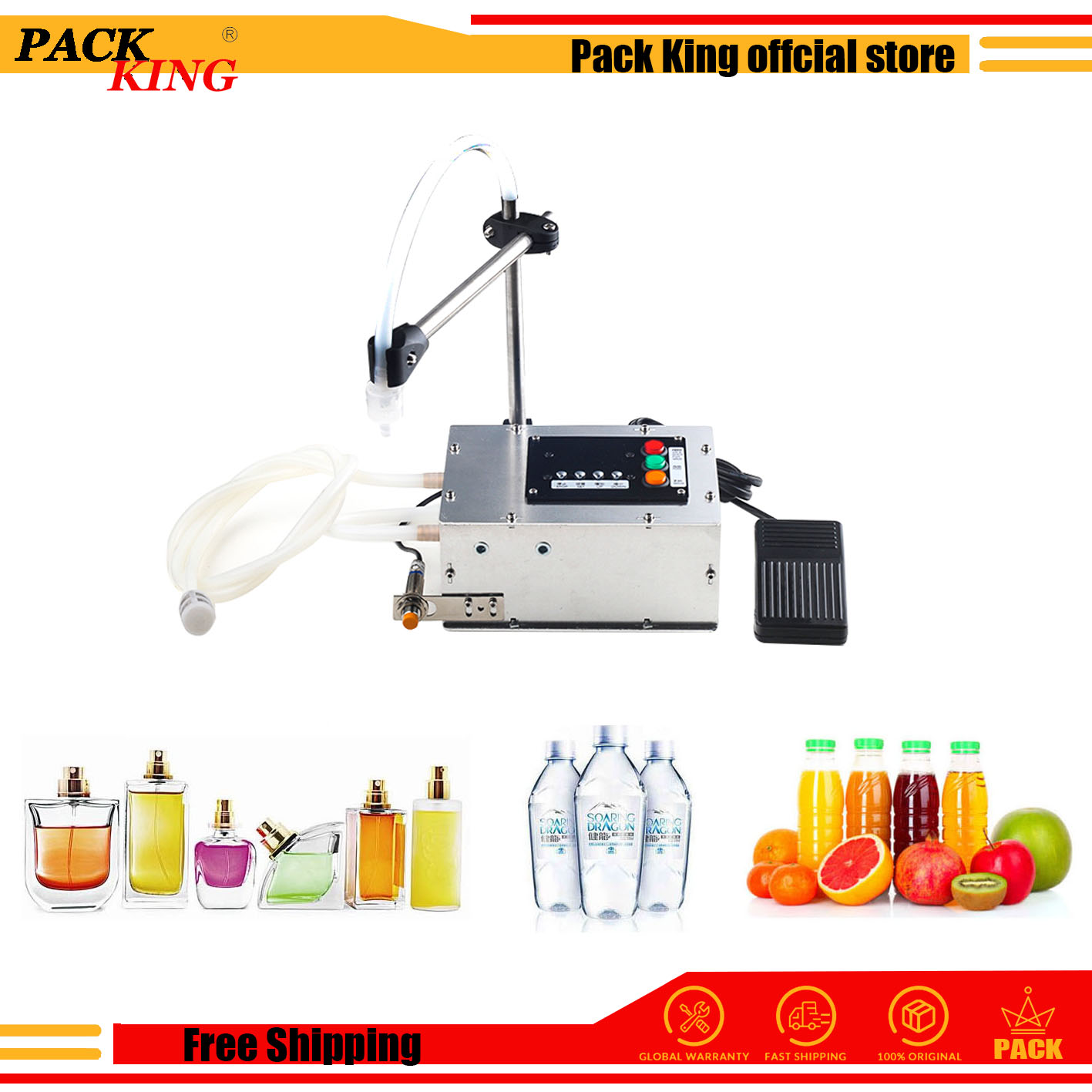 Liquid Filling Machine Water Juice Drinking Food Grade Stainless Steel Household With High Temperature Resistance Free Shipping