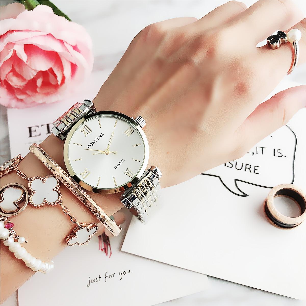 CONTENA  Luxury Buniness 2020 Wristwatch Mujer Clock New Arrival Super Quartz Saati Montre Femme Relojes Nice Women's Watches